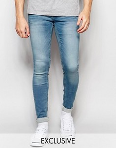 Светлые винтажные джинсы скинни Blend Lunar - Синий
