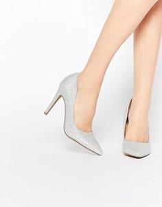 Серебристые туфли‑лодочки на каблуке Head over Heels By Dune Addyson - Серебряный