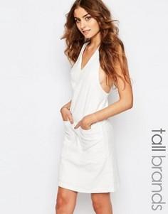 Жаккардовое цельнокройное платье Y.A.S Tall - Белый