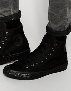 Черные высокие кеды Converse Chuck Taylor All Star II 151221C - Черный