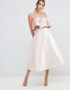 Пышная розовая юбка из жаккарда Coast Madsen - Розовый