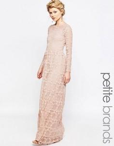 Платье макси с цветочной аппликацией True Decadence Petite - Розовый