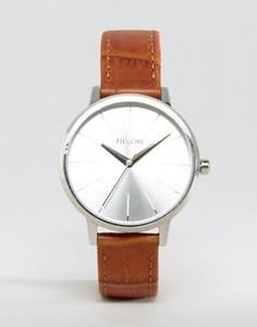 Часы со светло-коричневым кожаным ремешком Nixon Kensington - Коричневый