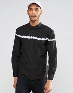 Рубашка с длинными рукавами и принтом тай-дай Religion - Черный