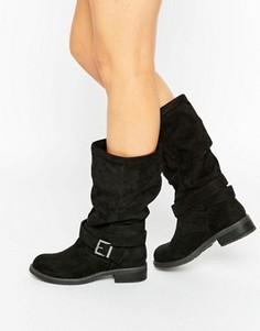 Байкерские ботинки ASOS CAITLIN - Черный