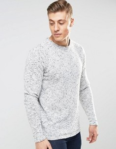 Вязаный меланжевый джемпер Bellfield - Серый