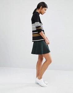 Трикотажная юбка-клеш Y.A.S Romain - Зеленый
