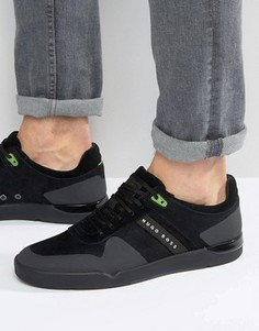 Замшевые кроссовки BOSS Green By BOSS - Черный