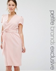 Платье с запахом и поясом Alter Petite - Розовый