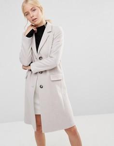 Кремовое пальто Helene Berman - Кремовый