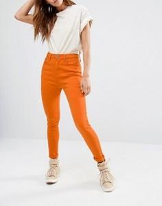Облегающие джинсы с завышенной талией Liquor & Poker - Оранжевый