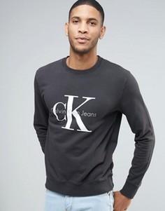 Свитшот в стиле 90‑х Calvin Klein Jeans - Черный