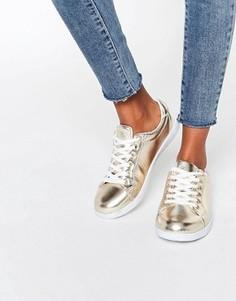 Золотистые кроссовки Missguided - Золотой