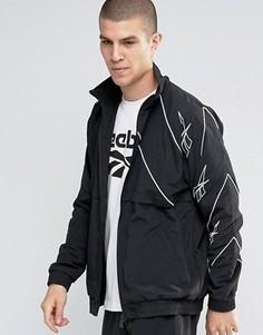 Черная спортивная куртка на молнии Reebok Vector AZ9535 - Черный