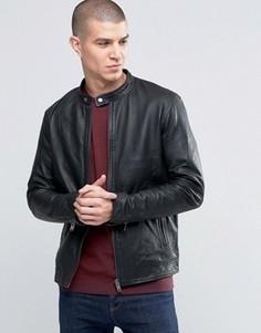 Кожаная куртка Selected Homme Kyle - Черный