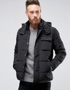 Дутая куртка с капюшоном Only & Sons - Черный