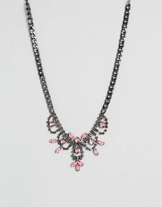 Эффектное ожерелье DesignB - Розовый