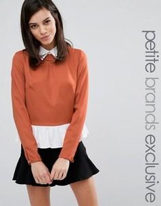 Двухслойная блузка Fashion Union Petite Odin - Рыжий