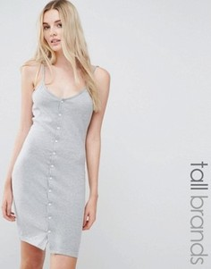 Облегающее платье мини на пуговицах Missguided Tall - Серый