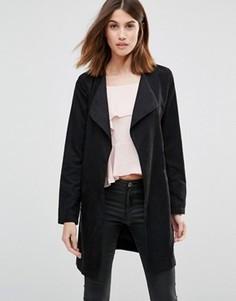 Пальто с поясом Vila - Черный