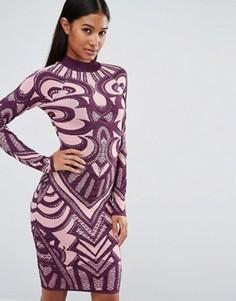Вязаное бандажное платье WOW Couture - Мульти