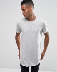 Длинная футболка с асимметричным краем Jack & Jones - Серый