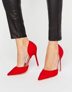 Красные туфли-лодочки с прозрачной вставкой Public Desire Keely - Красный