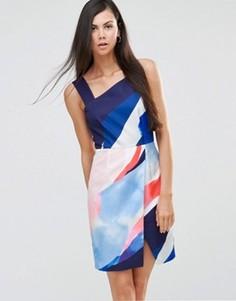 Платье на одно плечо Finders Keepers Diving Under - Мульти