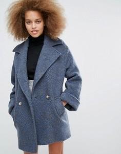 Серое с синим пальто Helene Berman Tessa - Серый