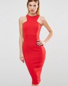 Платье миди из крепа Club L - Красный