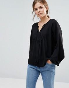 Блузка с кисточками Vero Moda Gerogine - Черный