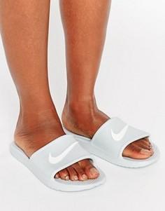 Серые шлепанцы с логотипом Nike Kawa - Серый