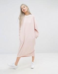Трикотажное oversize-платье миди STYLENANDA - Розовый