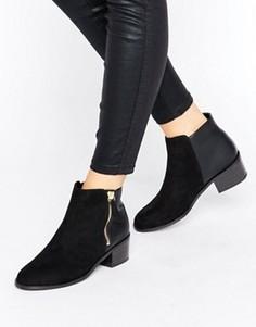 Ботинки челси на каблуке New Look - Черный