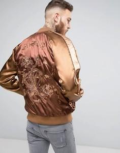 Куртка с вышивкой ASOS Souvenir - Коричневый