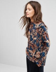 Блузка с принтом и съемными манжетами Gestuz - Мульти