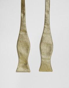 Двусторонний галстук-бабочка (золотистый/серебристый) ASOS - Золотой