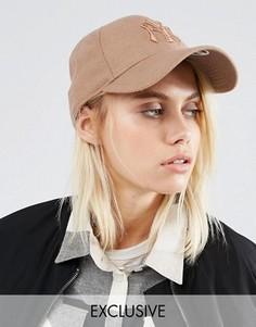 Розовая кепка с вышивкой NY New Era 9Forty - Розовый