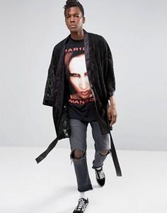 Кружевное кимоно Jaded London - Черный