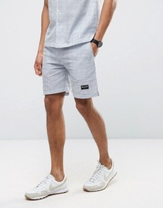Nicce London Striped Shorts In Blue - Синий