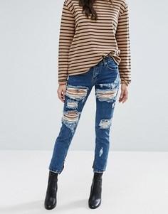Рваные джинсы Glamorous - Синий
