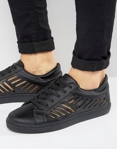 ASOS Trainers In Black With Cut Out Detail - Черный