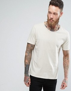 Nudie Jeans Co Ove Patched T-Shirt - Бежевый