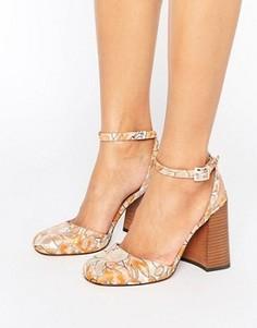 Туфли с квадратным носком и расклешенным каблуком ASOS ORRO - Мульти