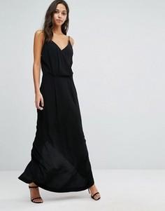 Платье макси с кружевной спинкой Samsoe & Samsoe - Черный