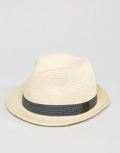 Бежевая соломенная шляпа Fred Perry - Бежевый
