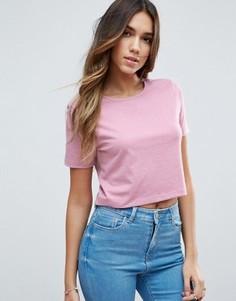 Укороченная футболка ASOS - Розовый