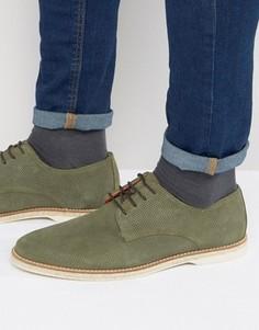Замшевые туфли на шнуровке Dune Barrock - Зеленый