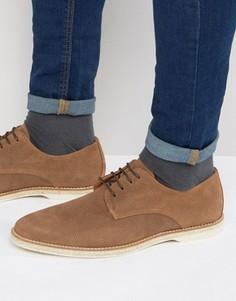 Замшевые туфли на шнуровке Dune Barrock - Коричневый