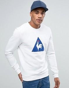 Le Coq Sportif Flock Logo Crew Sweatshirt In White 1710448 - Белый